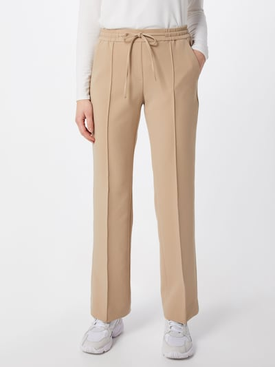 OPUS Pantalon à plis en beige, Vue avec modèle