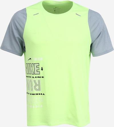 NIKE Ikdienas krekls 'Rise 365 Wild Run' pieejami pelēks / neonzaļš, Preces skats