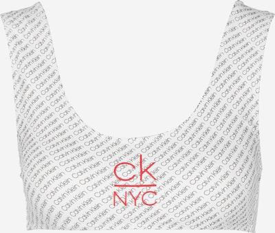 Calvin Klein Underwear Bralette ' W ' in grau / rot / weiß, Produktansicht