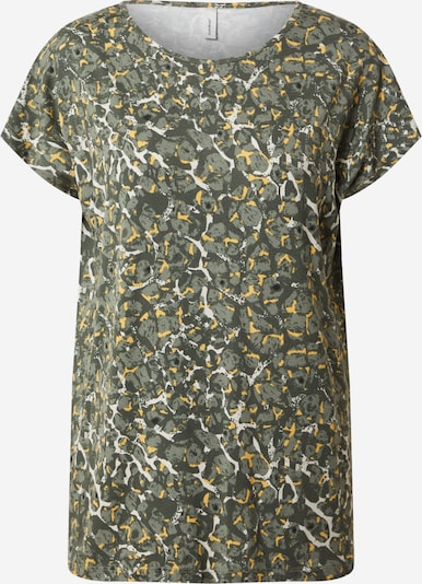 Soyaconcept Shirt in beige / dunkelgrün / schwarz: Frontalansicht