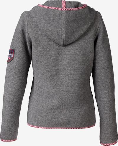Almgwand Trachtenstrickjacke Damen mit Kapuze in grau, Produktansicht