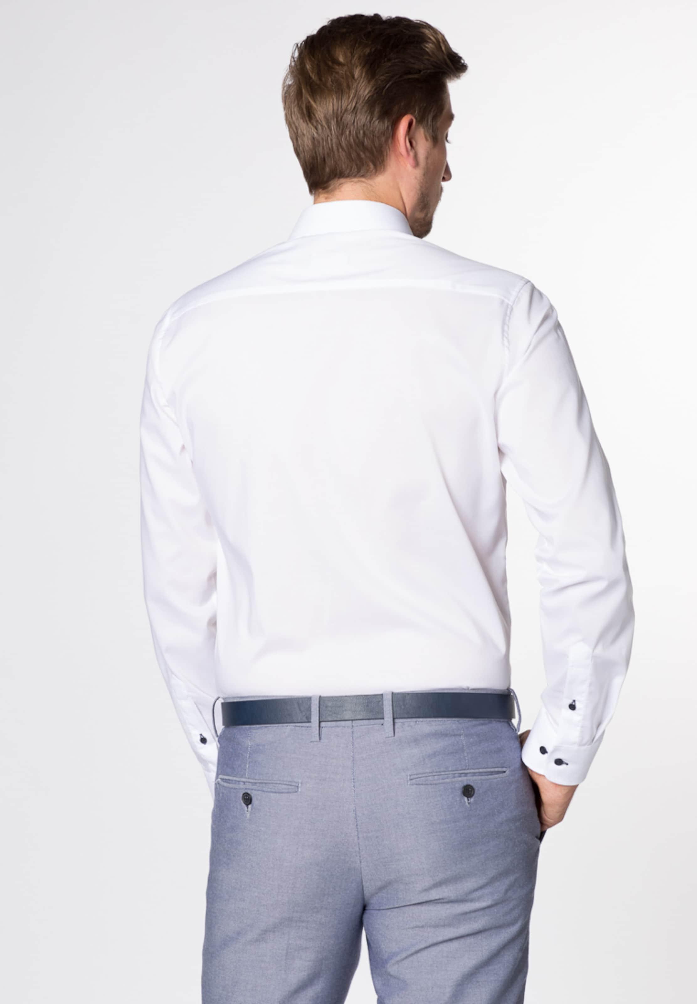 Langarm Fit Slim Hemd Weiß Eterna In 1lKcFJ