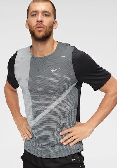 NIKE T-Shirt in grau / dunkelgrau / schwarz: Frontalansicht