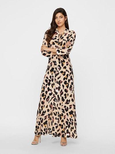 Y.A.S Košulja haljina 'Liro' u bež / kestenjasto smeđa, Prikaz modela