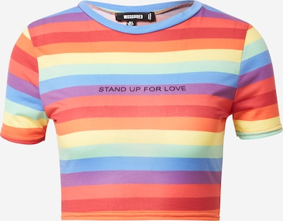 Missguided T-Shirt  'Pride Rainbow Stripe' in mischfarben, Produktansicht