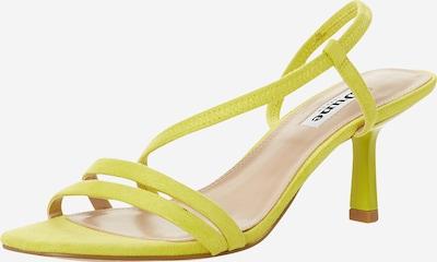 Dune LONDON Sandalen met riem 'MISO' in de kleur Geel, Productweergave