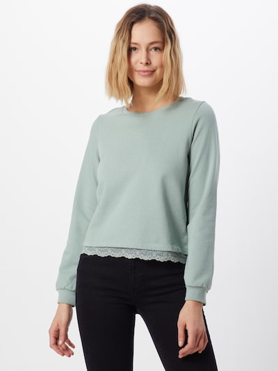 ABOUT YOU Sweatshirt 'Jenny' in grün / mint: Frontalansicht