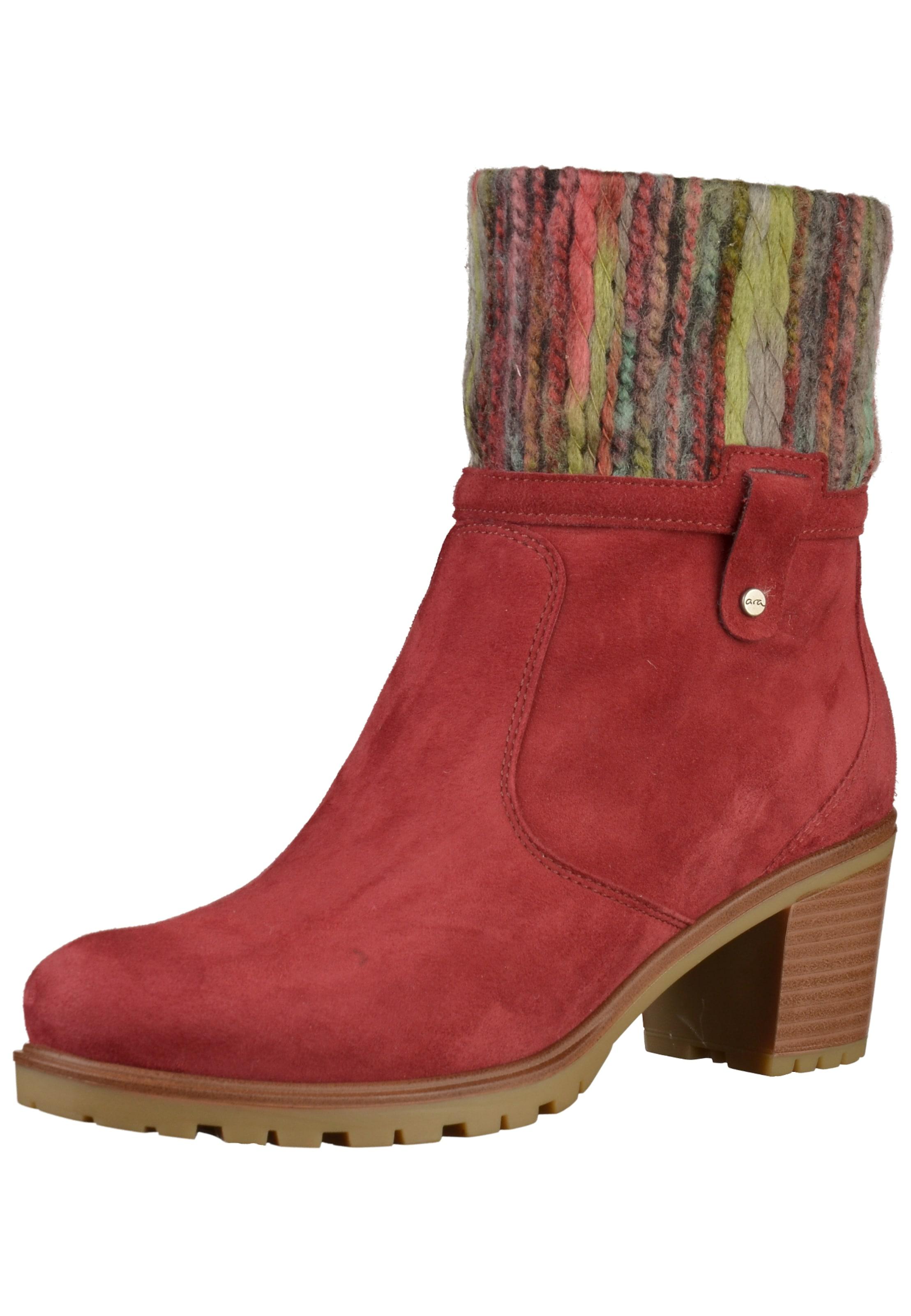 Jenny Stiefel in mischfarben   rot