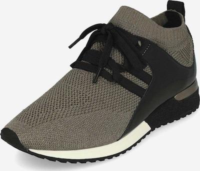 Edel Fashion Sneakers in taupe / schwarz / silber / weiß, Produktansicht