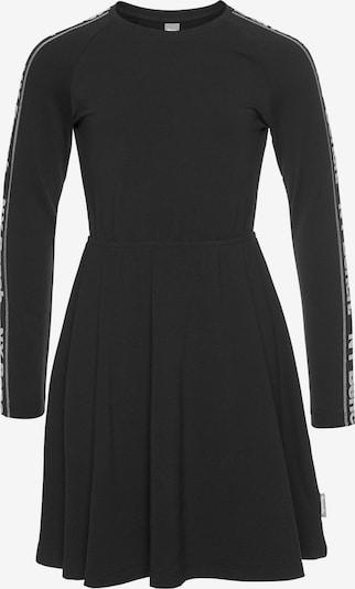 BENCH Jerseykleid in schwarz / weiß, Produktansicht