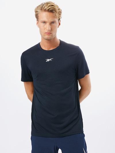 REEBOK Sportshirt in dunkelblau / weiß: Frontalansicht