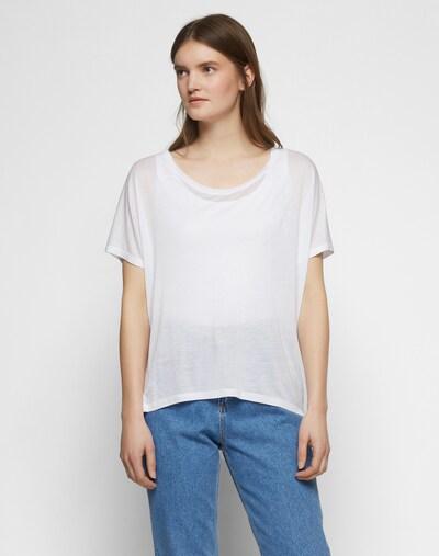 mbym Shirt 'Proud' in weiß: Frontalansicht