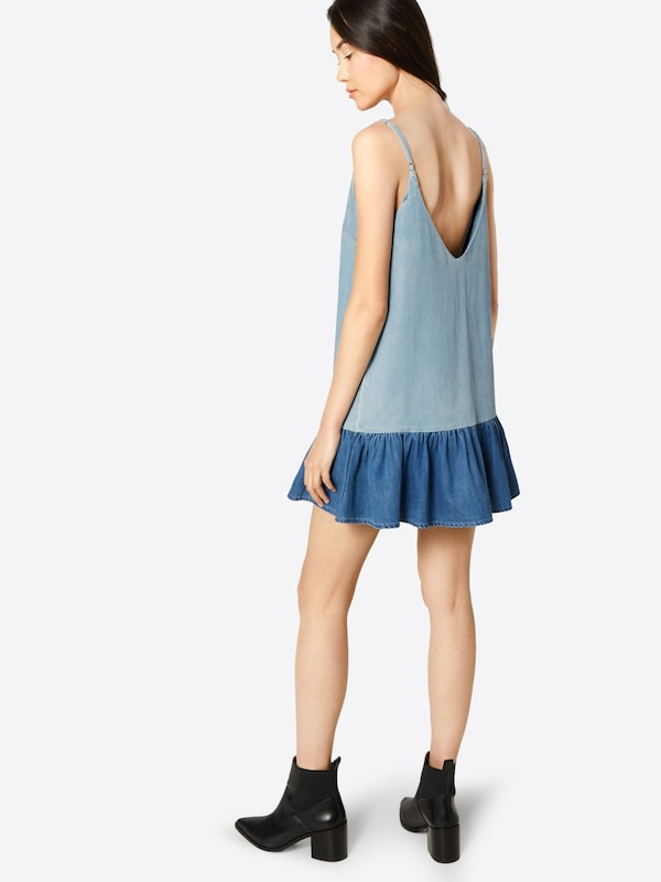 En Review 'denim Peplum' Robe Bleu Denim PiwZXuOkT