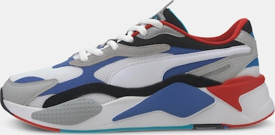 PUMA Sneaker 'RS-X³ PUZZLE' in blau / grau / rot, Produktansicht