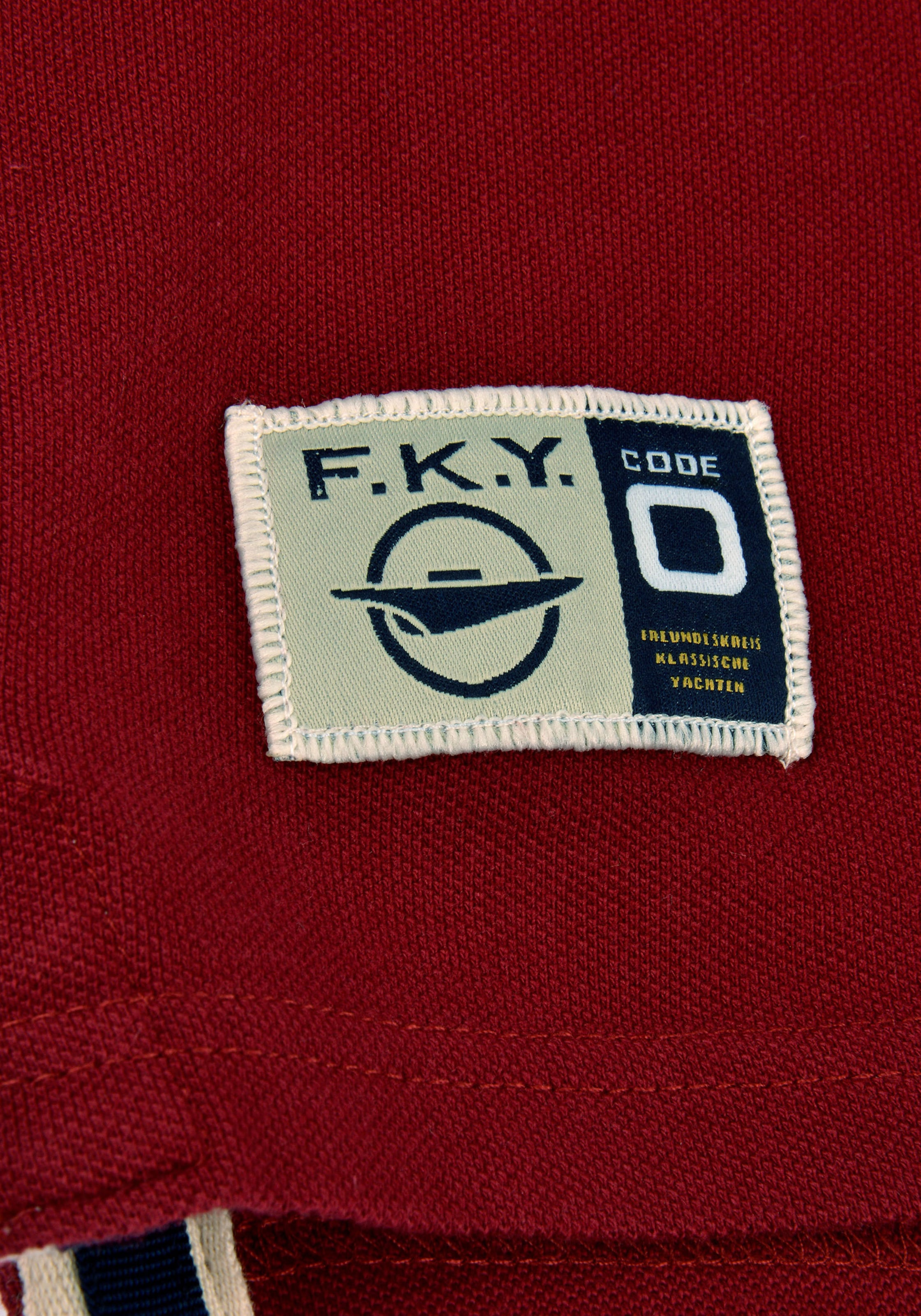 zero 'german Polo Burgunder Classic' In Code Shirt Tc3F1lKJ