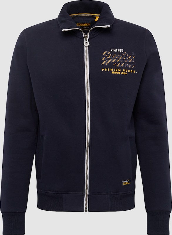 Superdry Sweatjacke 'PREMIUM GOODS TRACK TOP' in navy  Großer Rabatt