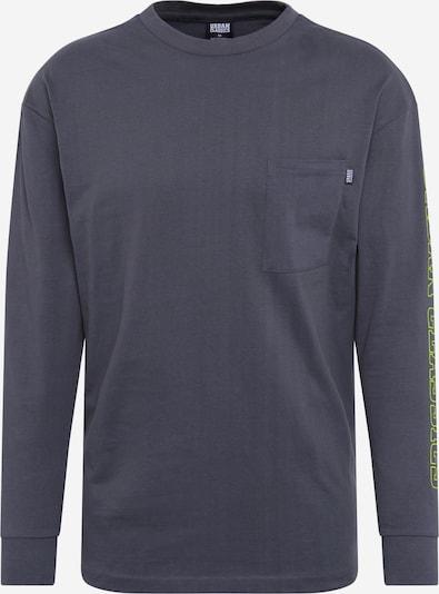 Urban Classics Sweatshirt in dunkelgrau / limette, Produktansicht
