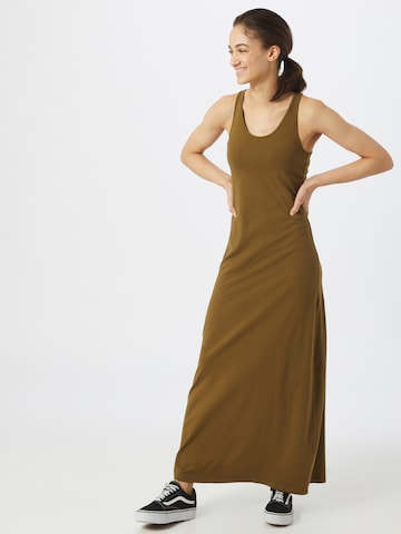 Urban Classics Dress 'Ladies Long Racer Back' in Brown