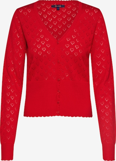 King Louie Knit cardigan 'V Heart' in Red, Item view