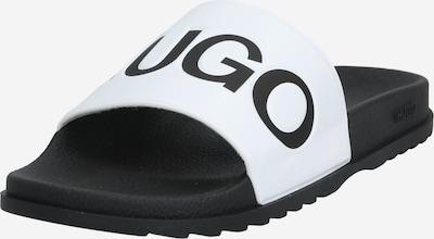 HUGO Claquettes / Tongs en noir / blanc, Vue avec produit