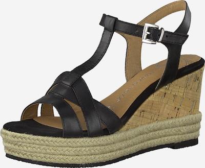 MARCO TOZZI Sandale in schwarz: Frontalansicht