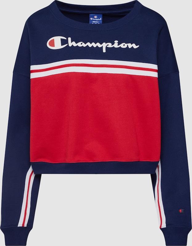 Champion Authentic Athletic Apparel Sweatshirt 'Rochester Crewneck Croptop' in navy   rot   weiß  Markenkleidung für Männer und Frauen