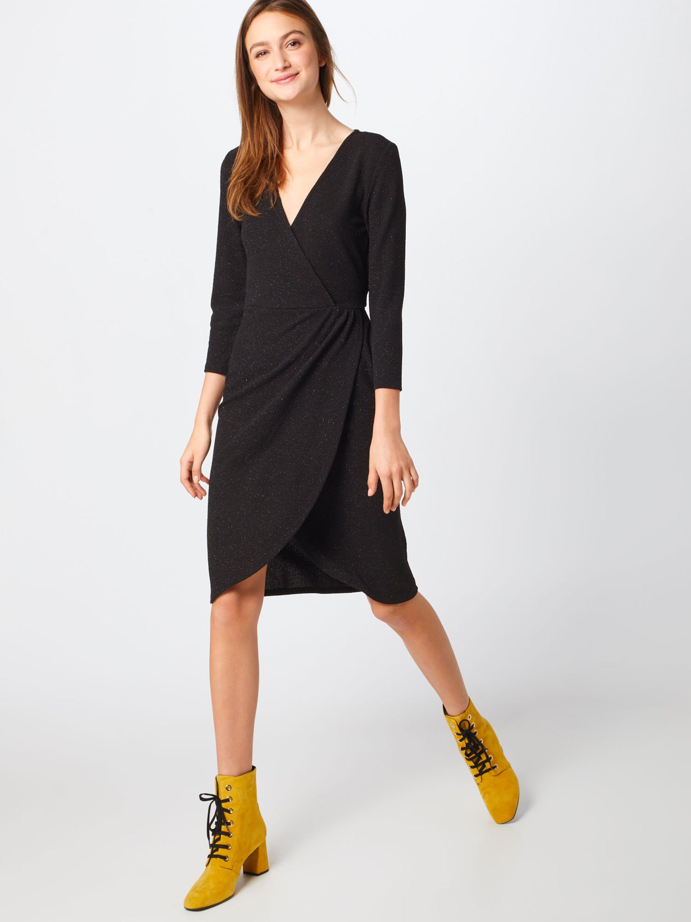 Yong 'jdycarol De 4 Kleid Wrap In Glitter Jacqueline Dress Exp' Schwarz 3 7b6gYfy
