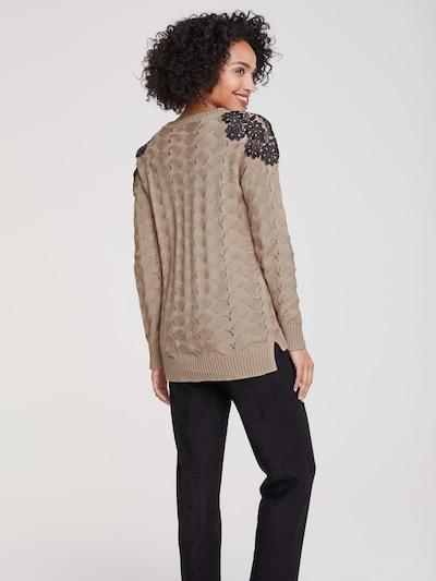 heine Sweter w kolorze piaskowy / czarnym: Widok od tyłu