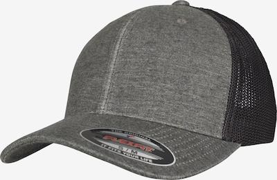 Flexfit Retro Trucker Cap in graumeliert / schwarz, Produktansicht