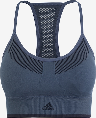 ADIDAS PERFORMANCE Sports Bra 'All Me Primeknit FLW' in taubenblau, Produktansicht