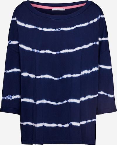 EDC BY ESPRIT Shirt  'Tie dye' in hellblau / weiß, Produktansicht