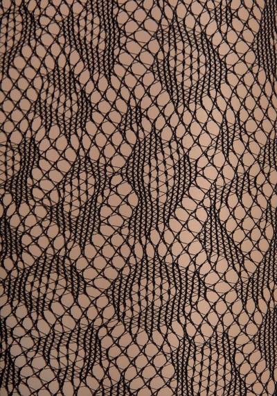 PETITE FLEUR GOLD Netzstrumpfhose in schwarz, Produktansicht