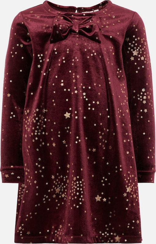 NAME IT Robe en or / lie de vin: Vue de face