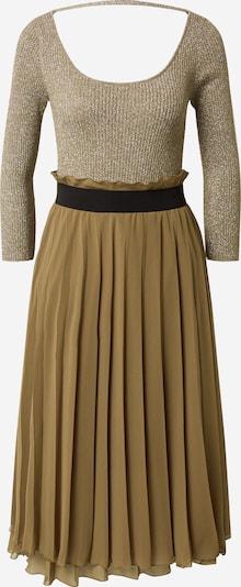 PATRIZIA PEPE Dress 'Abito lungo lurex plissé' in beige / khaki / black, Item view