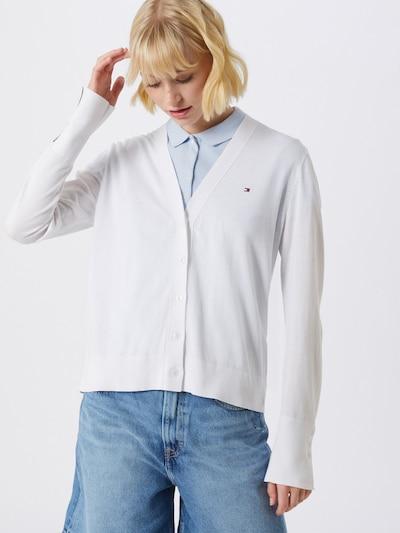 TOMMY HILFIGER Strickjacke 'LOUA' in weiß, Modelansicht