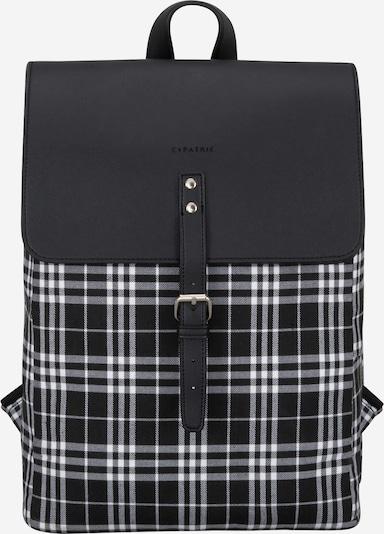 Expatrié Rugzak 'Anouk' in de kleur Zwart / Wit, Productweergave