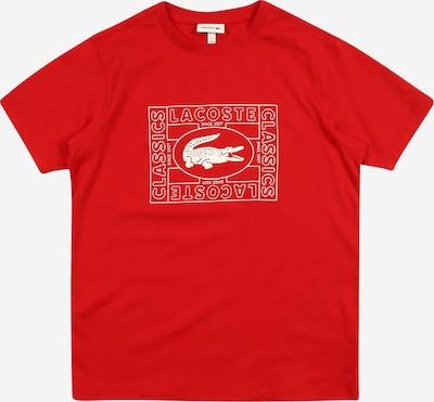 LACOSTE T-Shirt in rot / weiß, Produktansicht