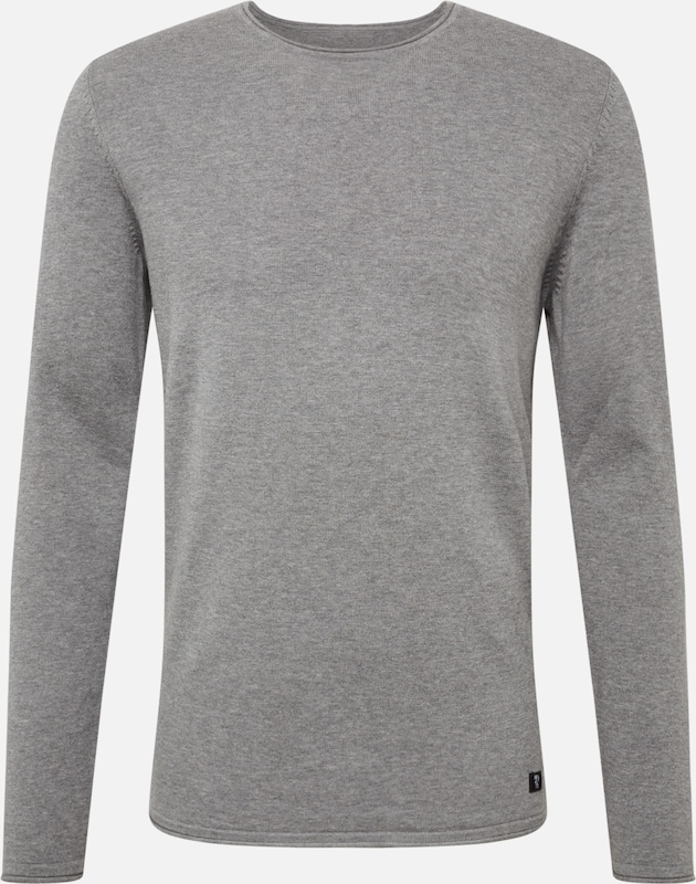 TOM TAILOR DENIM Pullover in hellgrau: Frontalansicht
