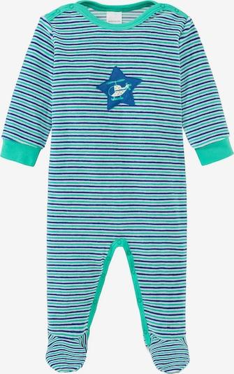 SCHIESSER Schlafanzug in blau / hellgrün, Produktansicht