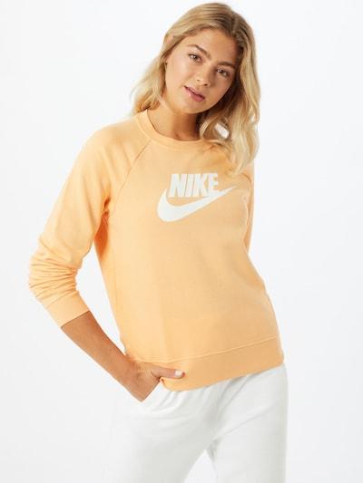 Nike Sportswear Sweat-shirt en orange / blanc: Vue de face