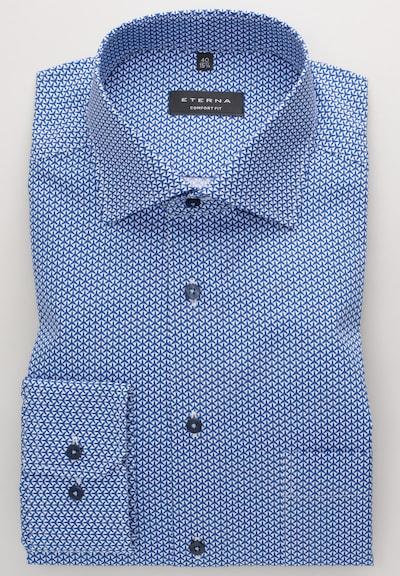 ETERNA Hemd in blau / weiß: Frontalansicht