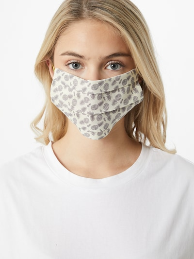CODELLO Stoffmaske 'Pineapple Small' in creme / grau: Frontalansicht