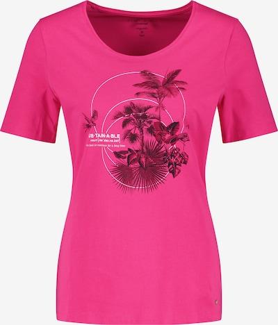 GERRY WEBER T-Shirt 1/2 Arm T-Shirt mit Frontprint in pink, Produktansicht