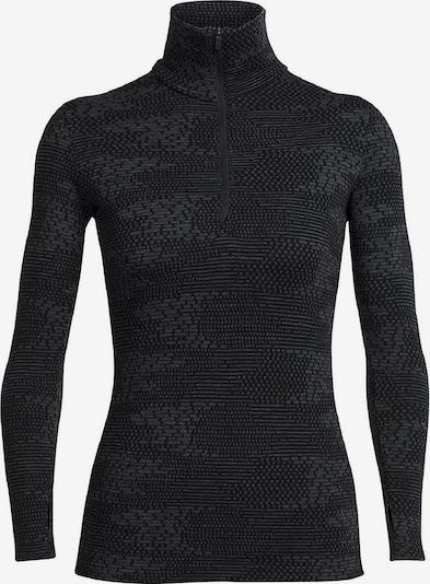 Icebreaker Shirt 'Vertex LS Flurry' in grau / schwarz, Produktansicht