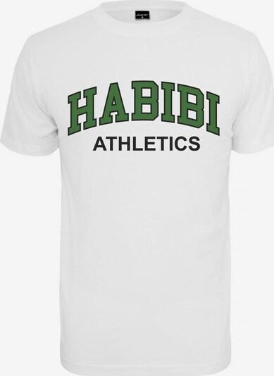 Mister Tee T-Shirt 'Habibi Atheltics' in grün / schwarz / weiß, Produktansicht