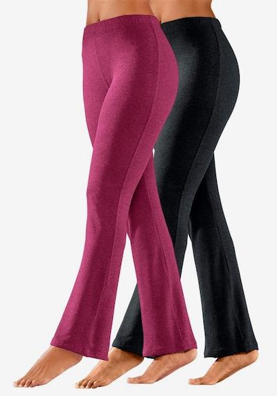 VIVANCE Leggings in cyclam / schwarz, Modelansicht