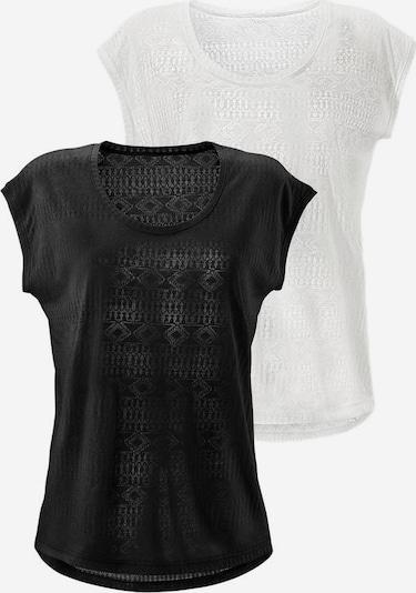 LASCANA T-shirt en noir / blanc, Vue avec produit