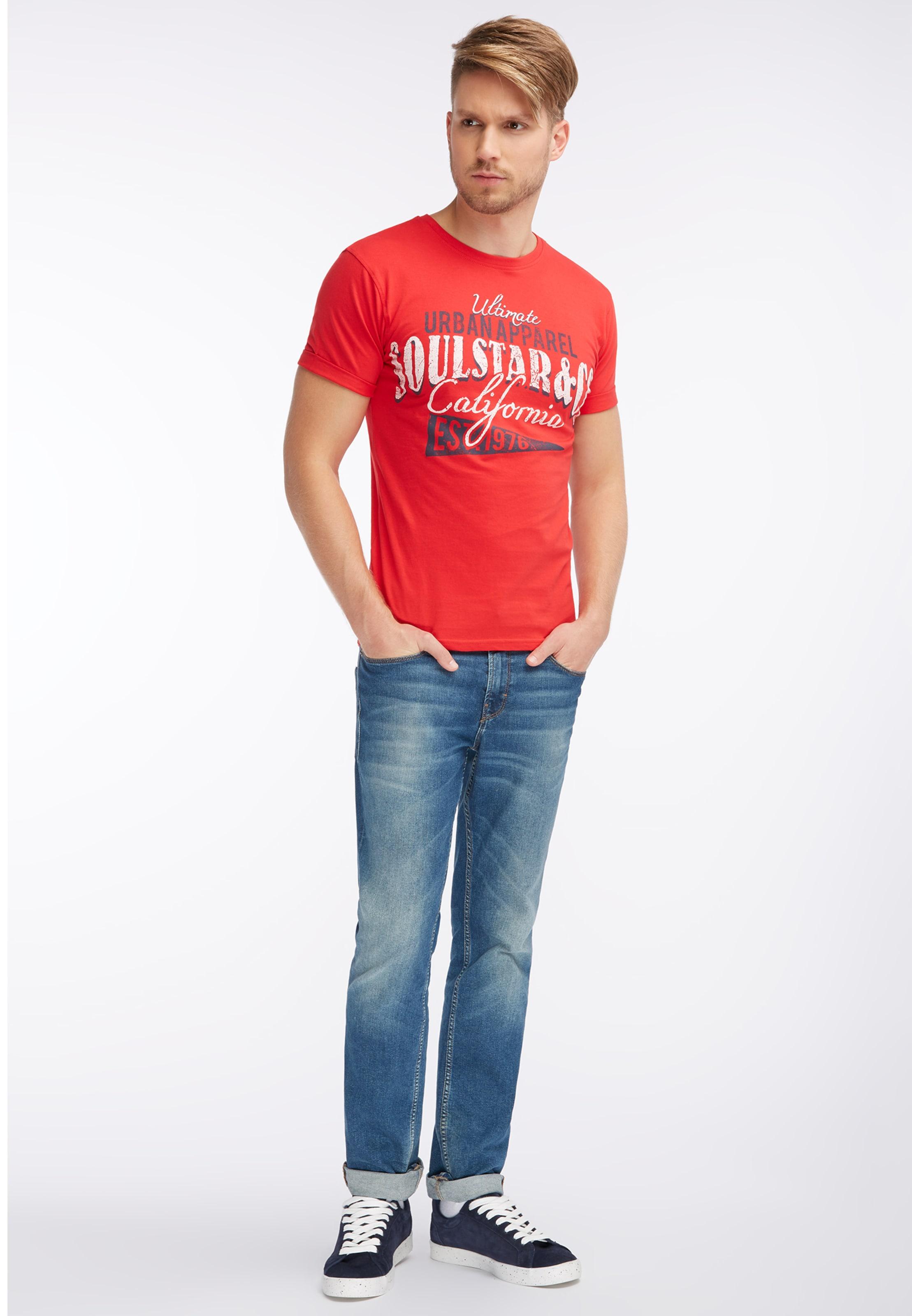 Blanc En Soulstar shirt T RougeNoir m0wvn8ON