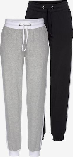 FLASHLIGHTS Jogginghose in grau / graumeliert / schwarz, Produktansicht