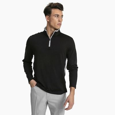 PUMA Rotation 1/4 Zip Herren Golf Pullover in schwarz, Produktansicht